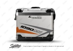 TSTI 3199 Touratech Zega Pro Aluminium Panniers Spike Series Grey Orange Stickers Kit 1090ADV