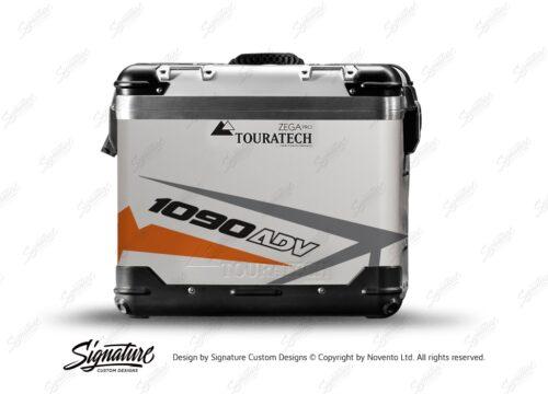 TSTI 3199 Touratech Zega Pro Aluminium Panniers Spike Series Grey Orange Stickers Kit 1090ADV