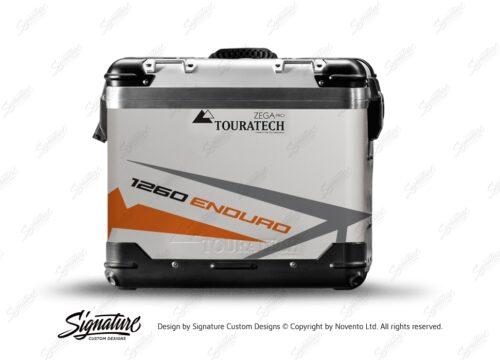 TSTI 3199 Touratech Zega Pro Aluminium Panniers Spike Series Grey Orange Stickers Kit 1260ENDURO