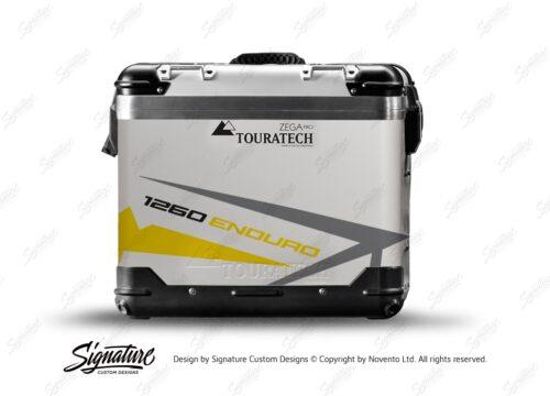 TSTI 3200 Touratech Zega Pro Aluminium Panniers Spike Series Grey Yellow Stickers Kit 1260ENDURO
