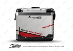 TSTI 3201 Touratech Zega Pro Aluminium Panniers Vector Series Red Stickers Kit 1200ENDURO