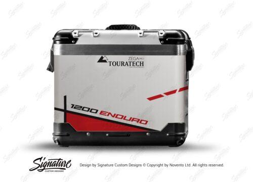TSTI 3201 Touratech Zega Pro Aluminium Panniers Vector Series Red Stickers Kit 1200ENDURO