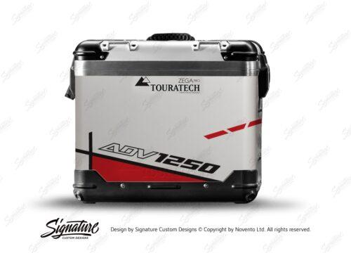 TSTI 3201 Touratech Zega Pro Aluminium Panniers Vector Series Red Stickers Kit ADV1250