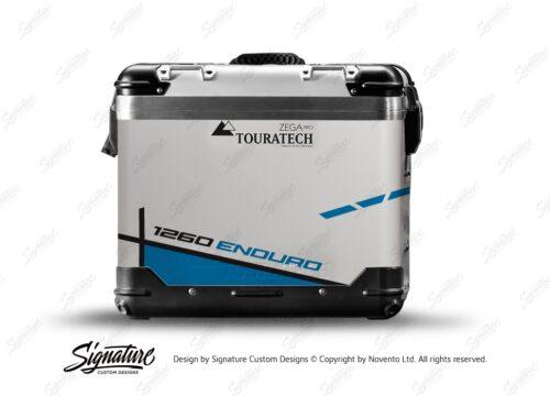 TSTI 3202 Touratech Zega Pro Aluminium Panniers Vector Series Blue Stickers Kit 1260ENDURO