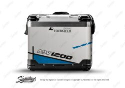 TSTI 3202 Touratech Zega Pro Aluminium Panniers Vector Series Blue Stickers Kit ADV1200