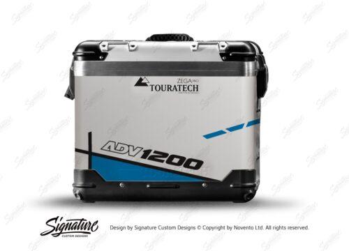 TSTI 3202 Touratech Zega Pro Aluminium Panniers Vector Series Blue Stickers Kit ADV1200