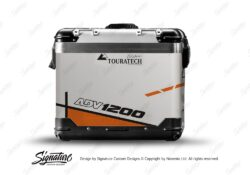 TSTI 3203 Touratech Zega Pro Aluminium Panniers Vector Series Orange Stickers Kit ADV1200