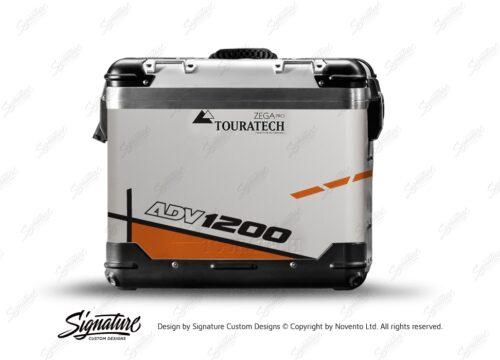 TSTI 3203 Touratech Zega Pro Aluminium Panniers Vector Series Orange Stickers Kit ADV1200