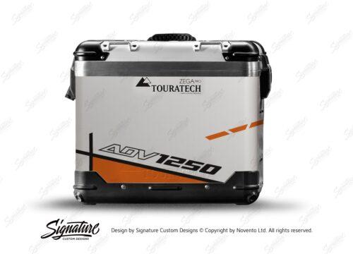 TSTI 3203 Touratech Zega Pro Aluminium Panniers Vector Series Orange Stickers Kit ADV1250