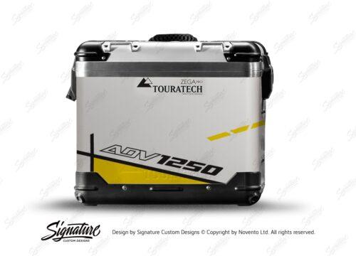 TSTI 3204 Touratech Zega Pro Aluminium Panniers Vector Series Yellow Stickers Kit ADV1250