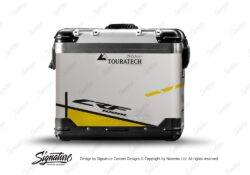 TSTI 3204 Touratech Zega Pro Aluminium Panniers Vector Series Yellow Stickers Kit CRF1000L