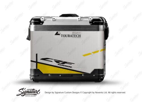TSTI 3204 Touratech Zega Pro Aluminium Panniers Vector Series Yellow Stickers Kit CRF1000L