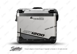 TSTI 3205 Touratech Zega Pro Aluminium Panniers Vector Series Grey Stickers Kit ADV1200