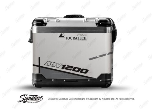 TSTI 3205 Touratech Zega Pro Aluminium Panniers Vector Series Grey Stickers Kit ADV1200
