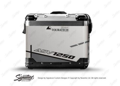 TSTI 3205 Touratech Zega Pro Aluminium Panniers Vector Series Grey Stickers Kit ADV1250