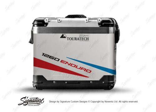 TSTI 3206 Touratech Zega Pro Aluminium Panniers Vivo Series Red Blue Stickers Kit 1260ENDURO