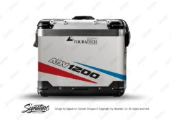 TSTI 3206 Touratech Zega Pro Aluminium Panniers Vivo Series Red Blue Stickers Kit ADV1200
