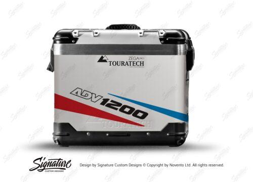 TSTI 3206 Touratech Zega Pro Aluminium Panniers Vivo Series Red Blue Stickers Kit ADV1200