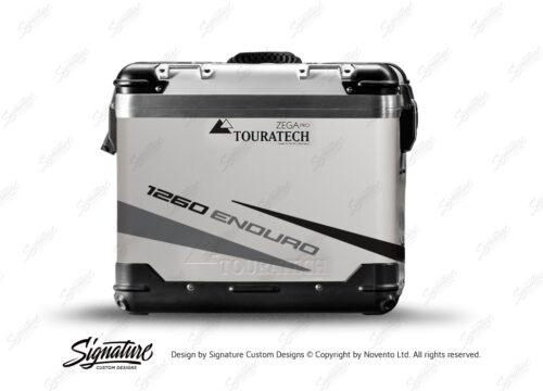 TSTI 3207 Touratech Zega Pro Aluminium Panniers Vivo Series Black Grey Stickers Kit 1260ENDURO
