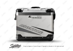 TSTI 3207 Touratech Zega Pro Aluminium Panniers Vivo Series Black Grey Stickers Kit ADVENTURE