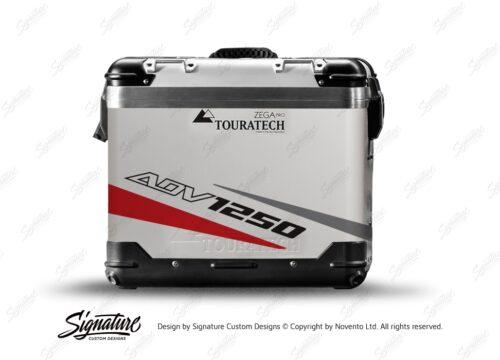 TSTI 3208 Touratech Zega Pro Aluminium Panniers Vivo Series Red Grey Stickers Kit ADV1250