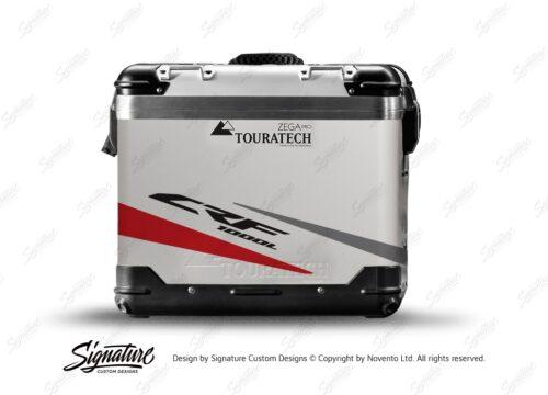 TSTI 3208 Touratech Zega Pro Aluminium Panniers Vivo Series Red Grey Stickers Kit CRF1000L
