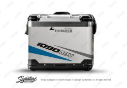 TSTI 3209 Touratech Zega Pro Aluminium Panniers Vivo Series Blue Grey Stickers Kit 1090ADV
