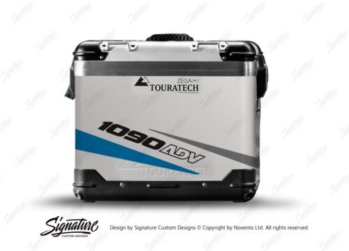TSTI 3209 Touratech Zega Pro Aluminium Panniers Vivo Series Blue Grey Stickers Kit 1090ADV