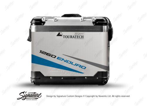 TSTI 3209 Touratech Zega Pro Aluminium Panniers Vivo Series Blue Grey Stickers Kit 1260ENDURO