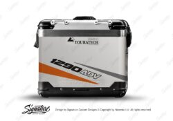 TSTI 3210 Touratech Zega Pro Aluminium Panniers Vivo Series Orange Grey Stickers Kit 1290ADV