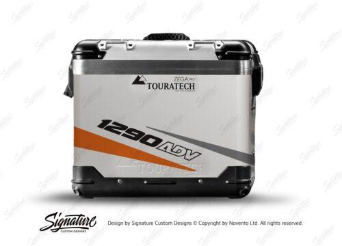 TSTI 3210 Touratech Zega Pro Aluminium Panniers Vivo Series Orange Grey Stickers Kit 1290ADV
