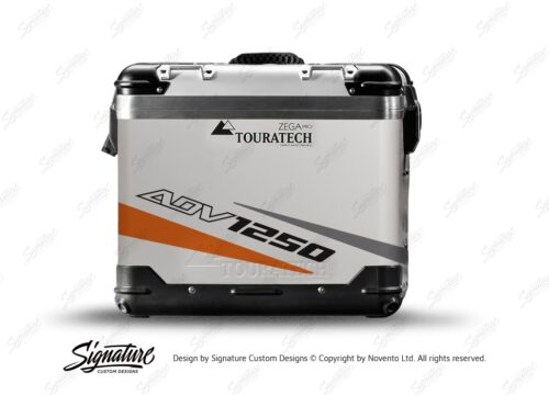 TSTI 3210 Touratech Zega Pro Aluminium Panniers Vivo Series Orange Grey Stickers Kit ADV1250