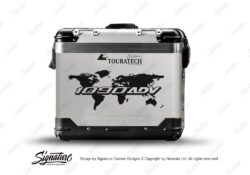 Touratech Zega Pro Side Panniers The Globe Black Stickers Kit