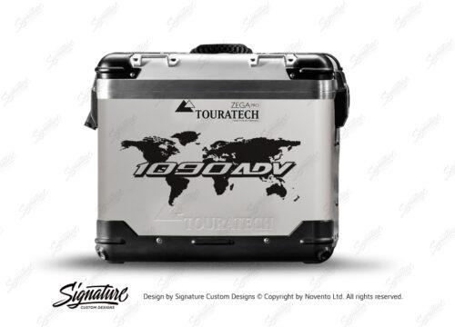 Touratech Zega Pro Side Panniers The Globe Black Stickers Kit