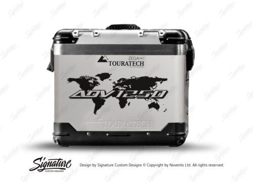 TSTI 3211 Touratech Zega Pro Aluminium Panniers The Globe Series Black Stickers Kit ADV1250