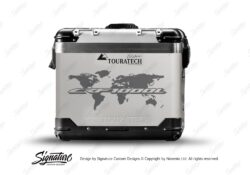 Touratech Zega Pro Side Panniers The Globe Grey Stickers Kit