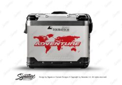 TSTI 3213 Touratech Zega Pro Aluminium Panniers The Globe Series Red Stickers Kit ADVENTURE