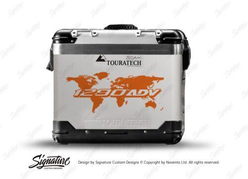 Touratech Zega Pro Side Panniers The Globe Orange Stickers Kit