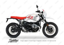 BKIT 3219 BMW RnineT Urban GS Alu Tank GS Side Tank and Front Fender Stickers Red 01