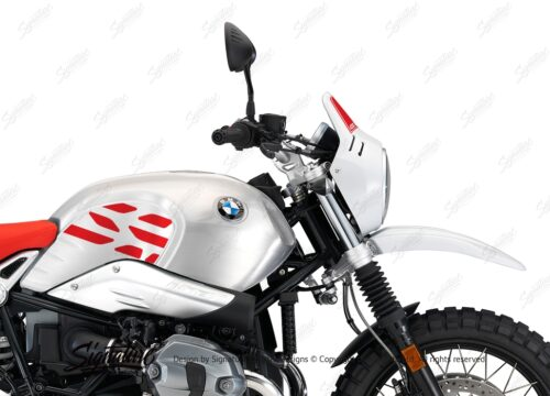 BKIT 3219 BMW RnineT Urban GS Alu Tank GS Side Tank and Front Fender Stickers Red 02
