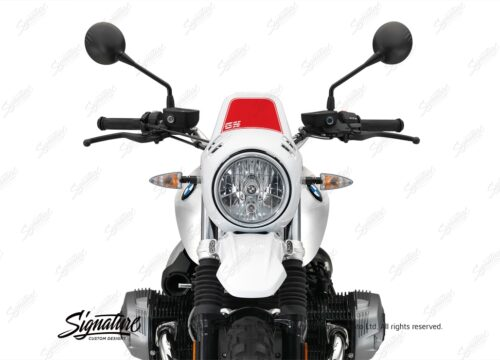 BKIT 3219 BMW RnineT Urban GS Alu Tank GS Side Tank and Front Fender Stickers Red 05