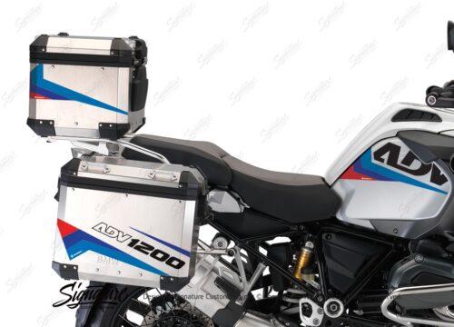 BSTI 3221 BMW R1200GS Adventure Alluminium Top Box Vivo Msport Stickers Kit 02