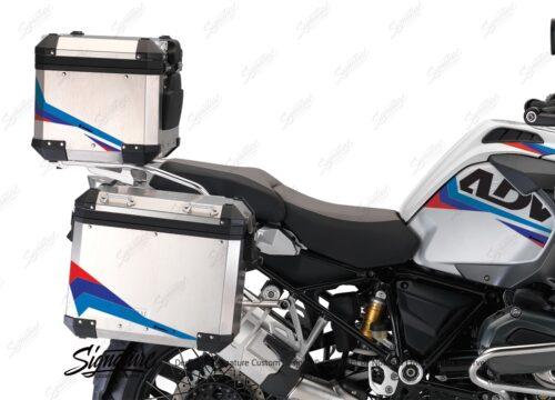 BSTI 3222 BMW R1200GS Adventure Alluminium Top Box Alive Msport Stickers Kit 02