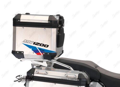 BSTI 3223 BMW R1200GS Adventure Alluminium Top Box Velos Msport Stickers kit 03