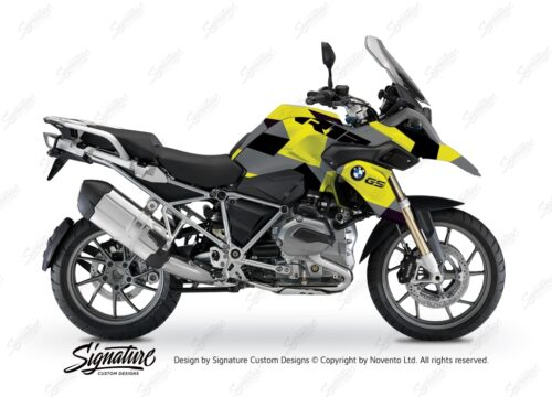 BWRA 3220 BMW R1200GS LC M90 Camo Grey Yellow Full Wrap 01