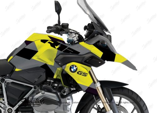 BWRA 3220 BMW R1200GS LC M90 Camo Grey Yellow Full Wrap 02