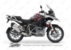 BKIT 3231 BMW R1200GS LC 2017 Alpine White Safari R12 Series Red Grey Stickers Kit 01