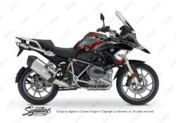 BKIT 3235 BMW R1200GS LC 2017 Black Storm Metallic Safari R12 Series Red Grey Stickers Kit 01