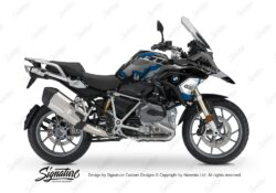BKIT 3236 BMW R1200GS LC 2017 Black Storm Metallic Safari R12 Series Blue Grey Stickers Kit 01