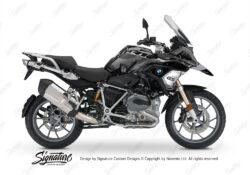 BKIT 3237 BMW R1200GS LC 2017 Black Storm Metallic Safari R12 Series Grey Variations Stickers Kit 01